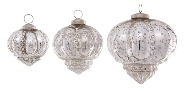Christbaumschmuck Vintage Glas Kugelhanger Iride Silber 8 5 Cm