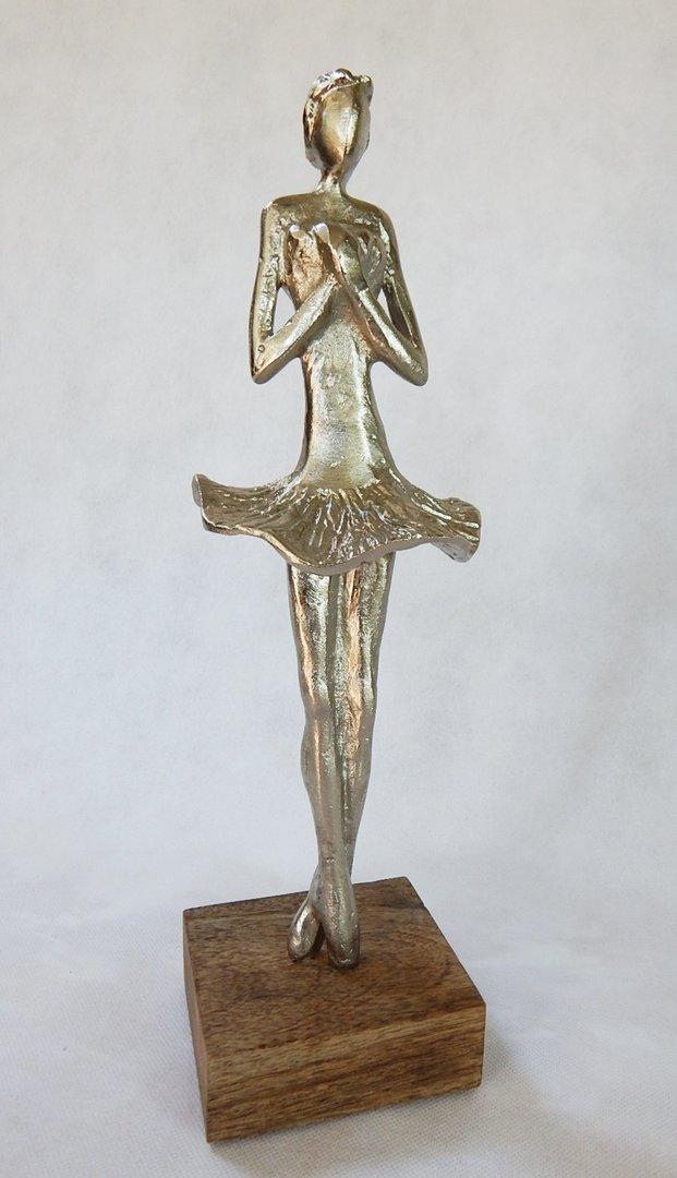 Oroväckande belopp fyrverkeri  Ballerina Skulptur Artisanal Alu / Holz, Holzfigur, Figur, Kunst